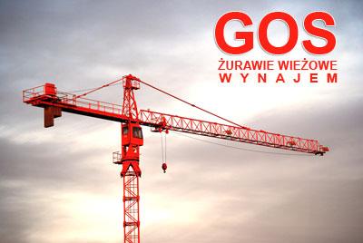 Reklama firmy GOS dla usługi żurawie Olsztyn